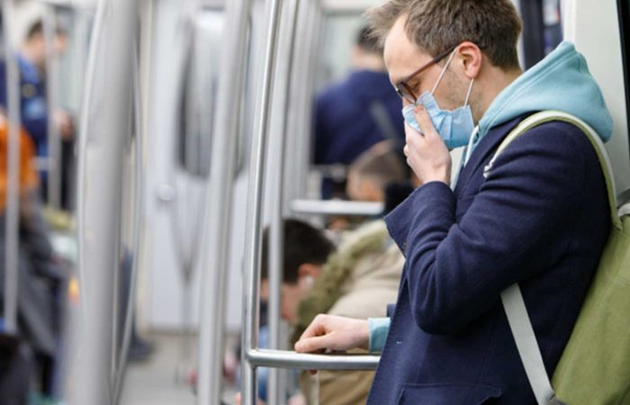 Governments are recommending social distancing in public transportation
